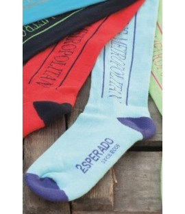 Chaussettes d'équitation bleu ciel ESPERADO