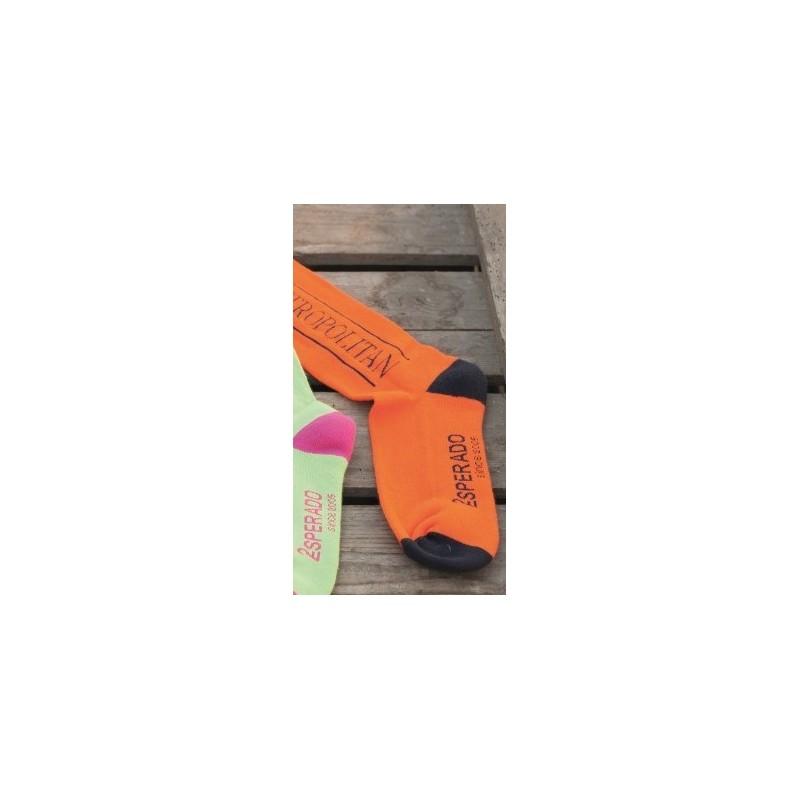 Chaussettes d'équitation orange ESPERADO