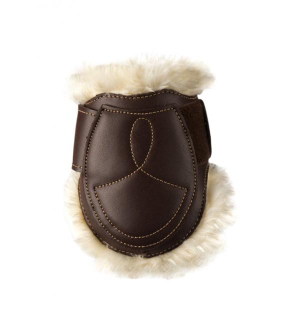 Protège-boulets velcro cuir mouton KENTUCKY