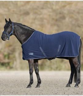 Chemise polaire marine pour cheval poney
