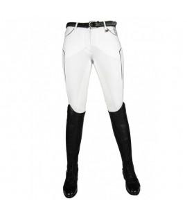 Pantalon d'équitation blanc fond de peau HKM