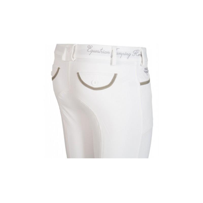 Culotte d'équitation blanc pour femme HAGG