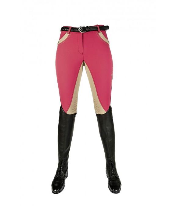 Pantalon d'équitation rose et beige CAVALLINO MARINO