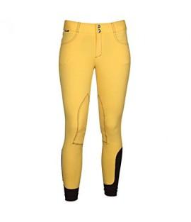 Pantalon d'équitation jaune coton HORKA