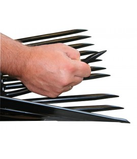 Fourche  à copeaux PVC avec manche en frêne