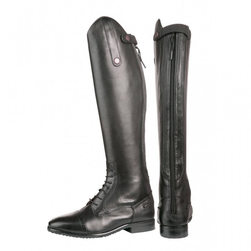 Bottes d'équitation lacets cuir noir HKM