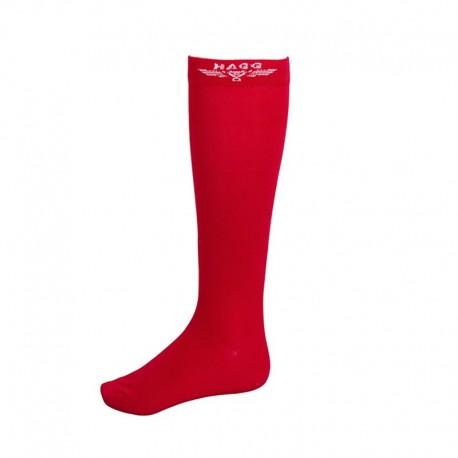 Chaussettes d'équitation rouge HAGG