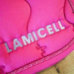 Tapis de selle dressage rose LAMICELL