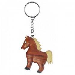 Porte-clés cheval en bois