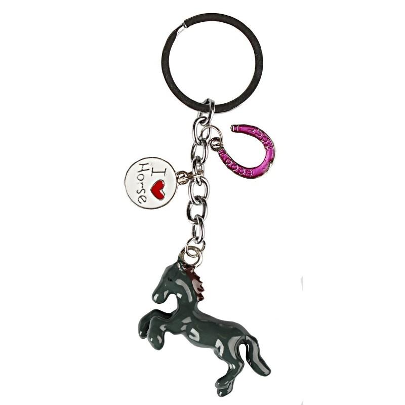 "Porte-clés ""I Love Horse"" RED HORSE"