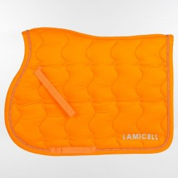 Tapis de selle dressage orange LAMICELL New Crystal