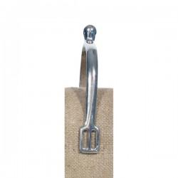 Eperons boule acier nickelé 15 mm