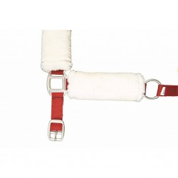 Licol rouge mouton synthétique HKM