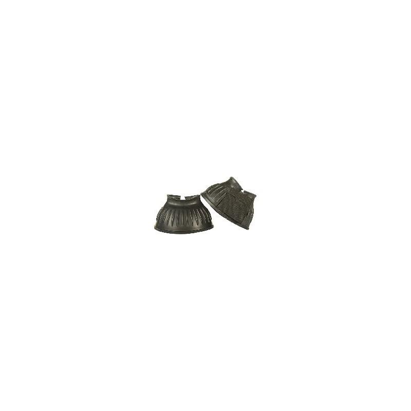 Cloches caoutchouc noir fermeture velcro HKM