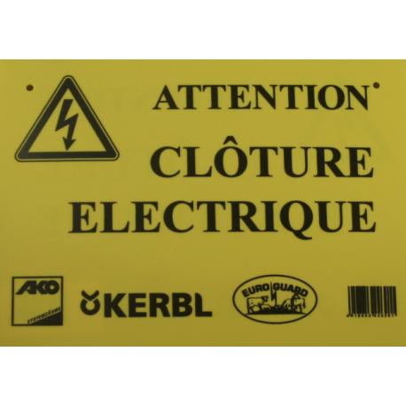 Panneau de signalisation clôture électrique