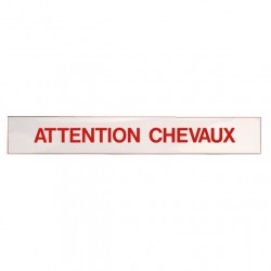 "Autocollant "" Attention Chevaux """