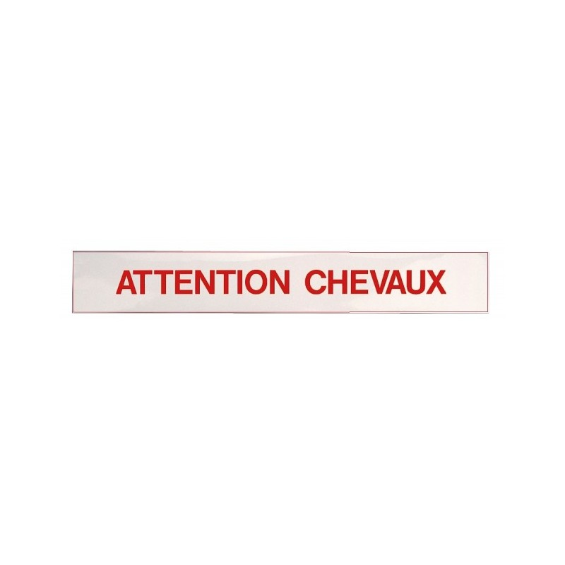 """Autocollant """" Attention Chevaux """""""