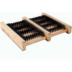 brosse bottes d'extérieur en bois