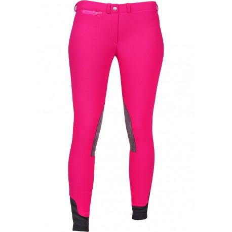 pantalon d'équitation hiver enfant pink