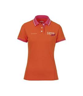 Polo équitation femme orange CAVALLO