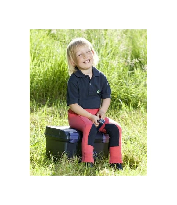 Pantalon d'équitation enfant corail et marine USG